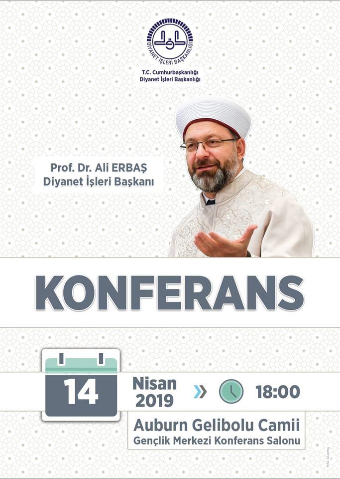 KONFERANS – Diyanet İşleri Başkanı Prof. Dr. Ali ERBAŞ